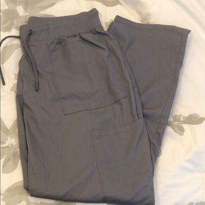 Skinny scrub cargo pants-JAANUU